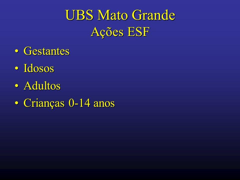 UBS Mato Grande Ações ESF