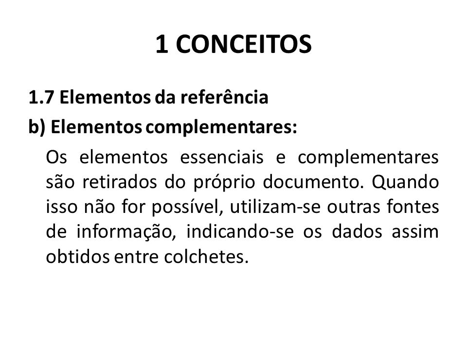 1 CONCEITOS