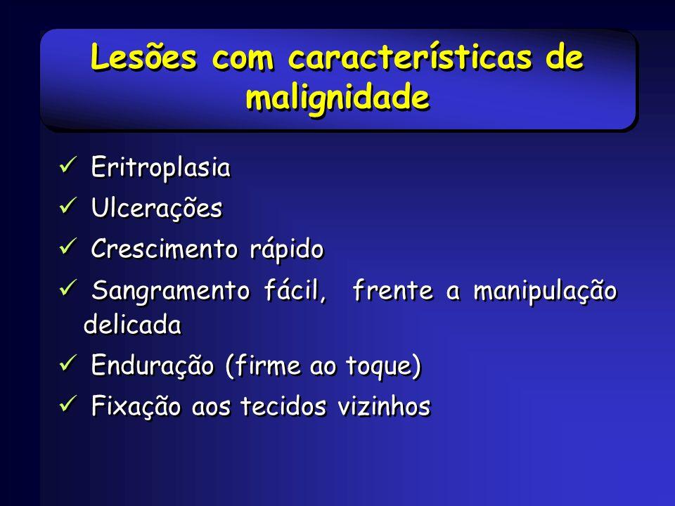 Lesões com características de malignidade