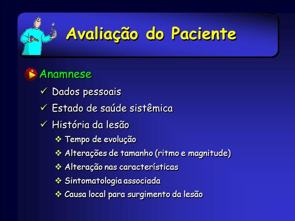 Avaliação do Paciente Anamnese Dados pessoais