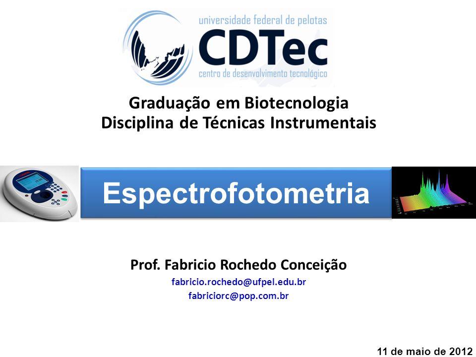 Espectrofotometria Graduação em Biotecnologia