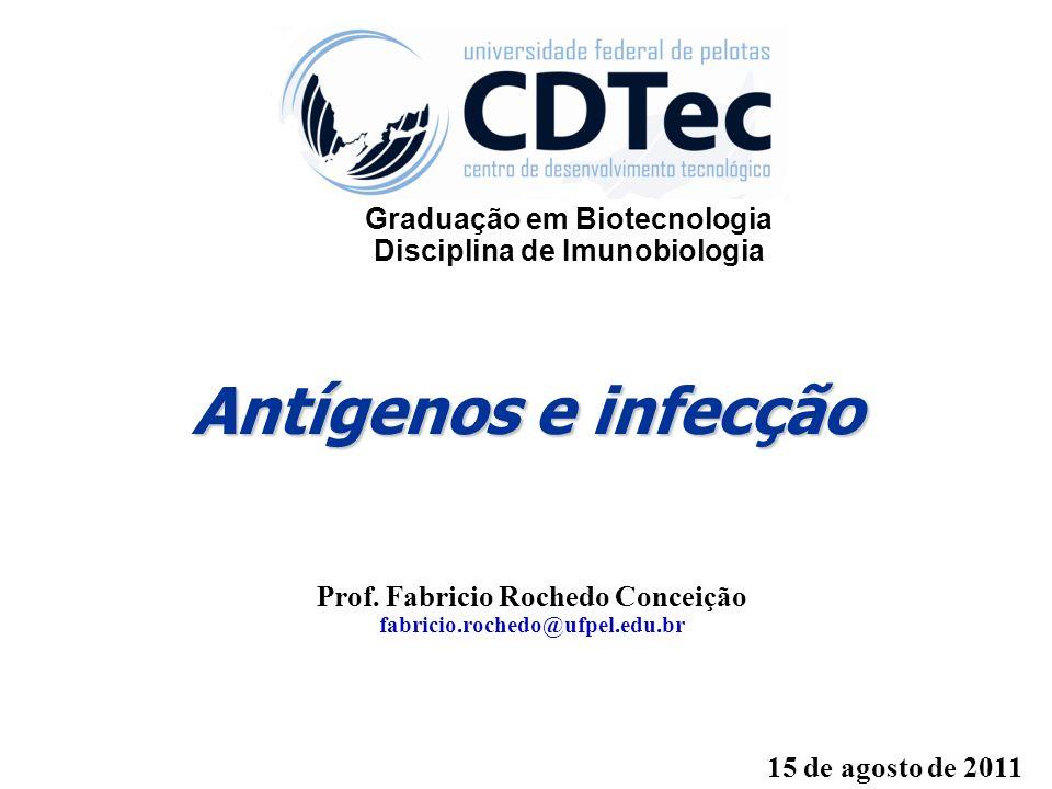 Antígenos e infecção Graduação em Biotecnologia
