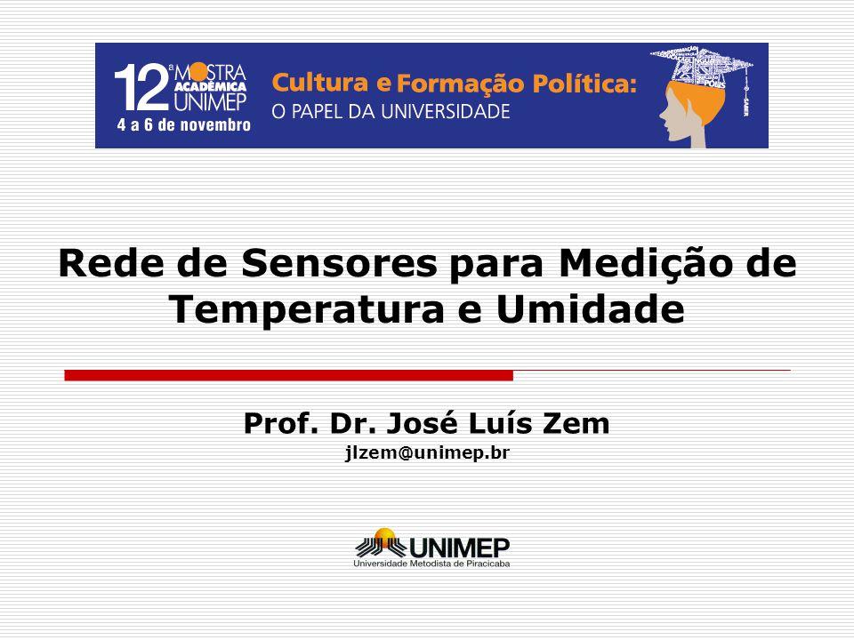 Rede de Sensores para Medição de Temperatura e Umidade