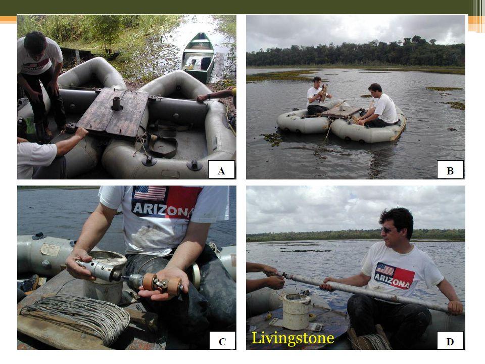 Caso o ambiente seja lacustre, faremos uso da metodologia de Livingstone (1955), constituído de um coletor de pistão, montado sobre uma plataforma flutuante (COLINVAUX et. al., 1999).