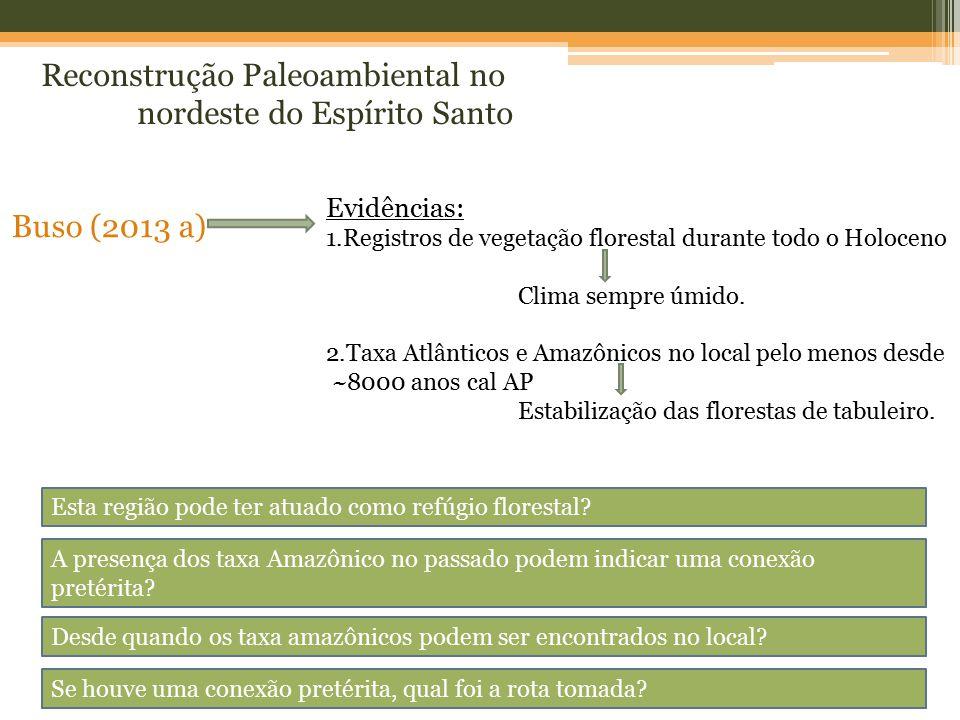 Reconstrução Paleoambiental no nordeste do Espírito Santo