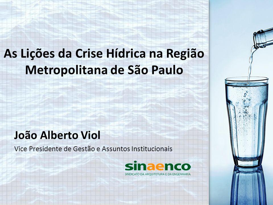 As Lições da Crise Hídrica na Região Metropolitana de São Paulo