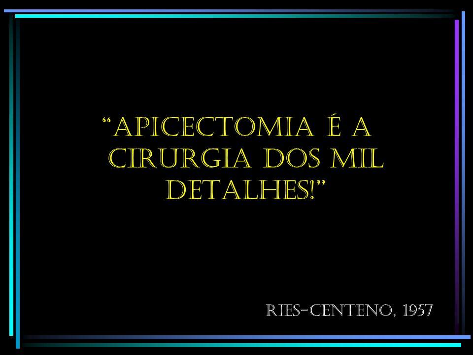 Apicectomia é a cirurgia dos mil detalhes!