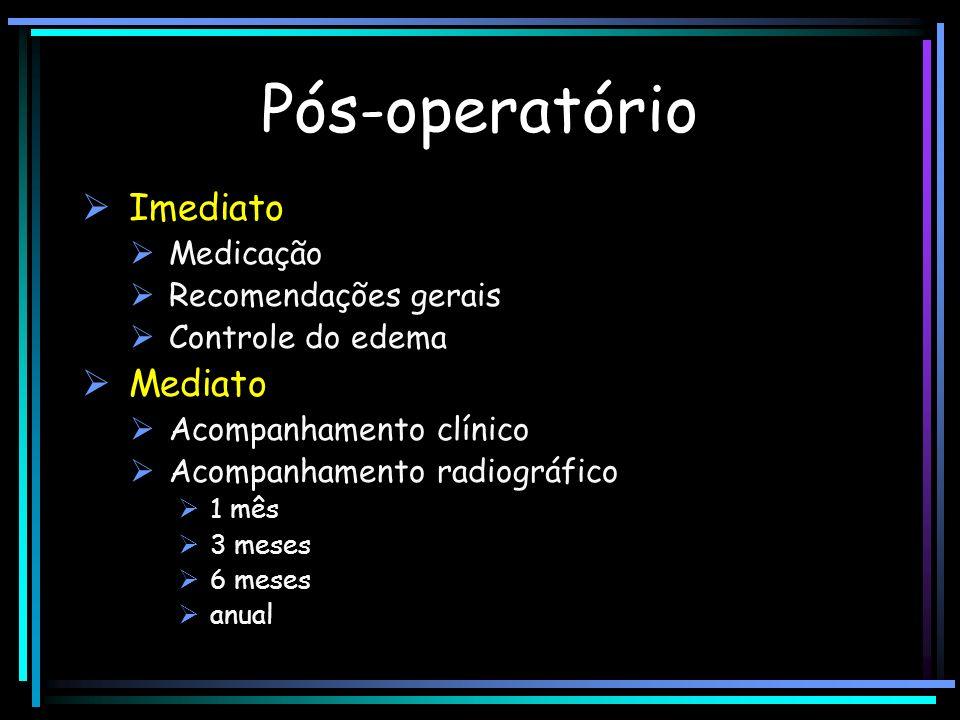 Pós-operatório Imediato Mediato Medicação Recomendações gerais
