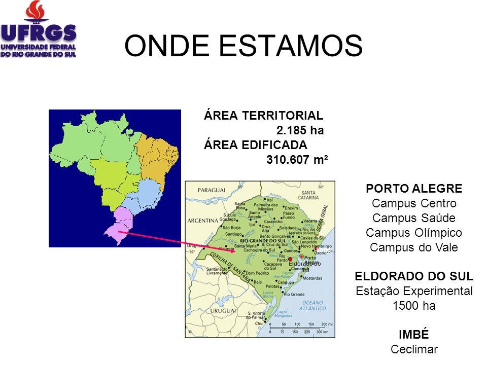 ONDE ESTAMOS ÁREA TERRITORIAL 2.185 ha ÁREA EDIFICADA 310.607 m²