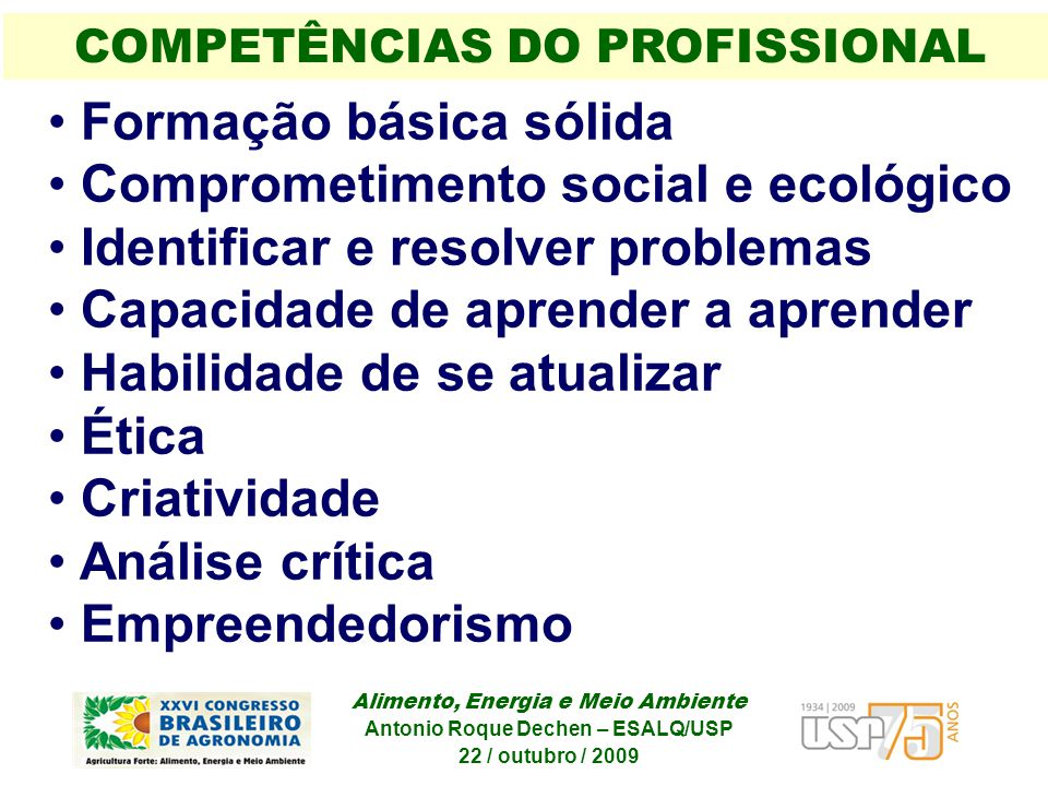 COMPETÊNCIAS DO PROFISSIONAL