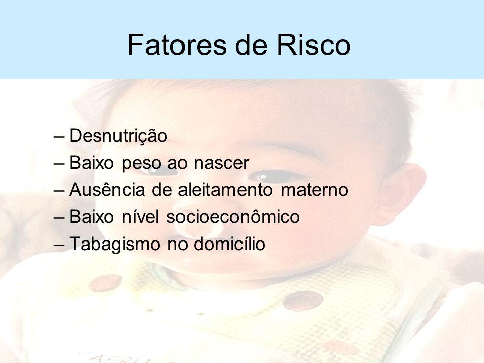Fatores de Risco Desnutrição Baixo peso ao nascer