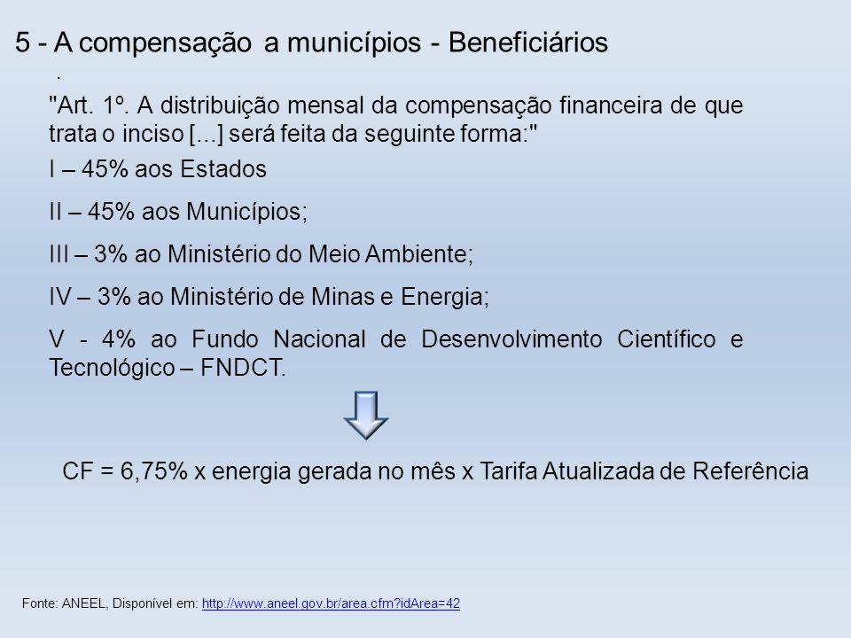 III – 3% ao Ministério do Meio Ambiente;