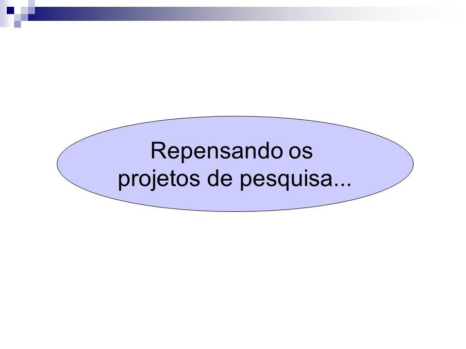 Repensando os projetos de pesquisa...