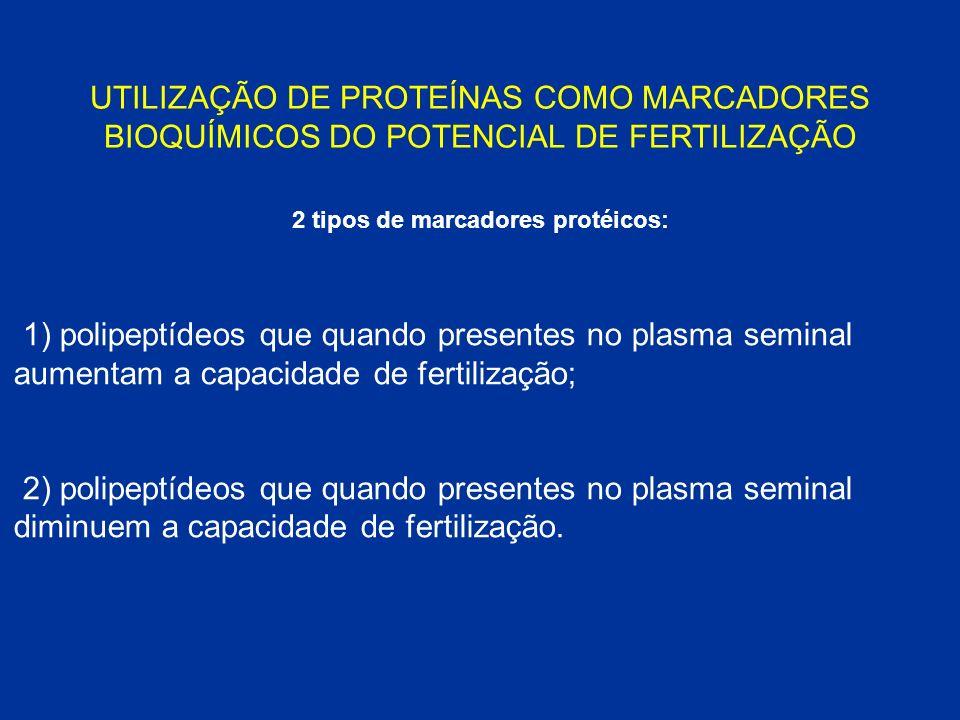 2 tipos de marcadores protéicos: