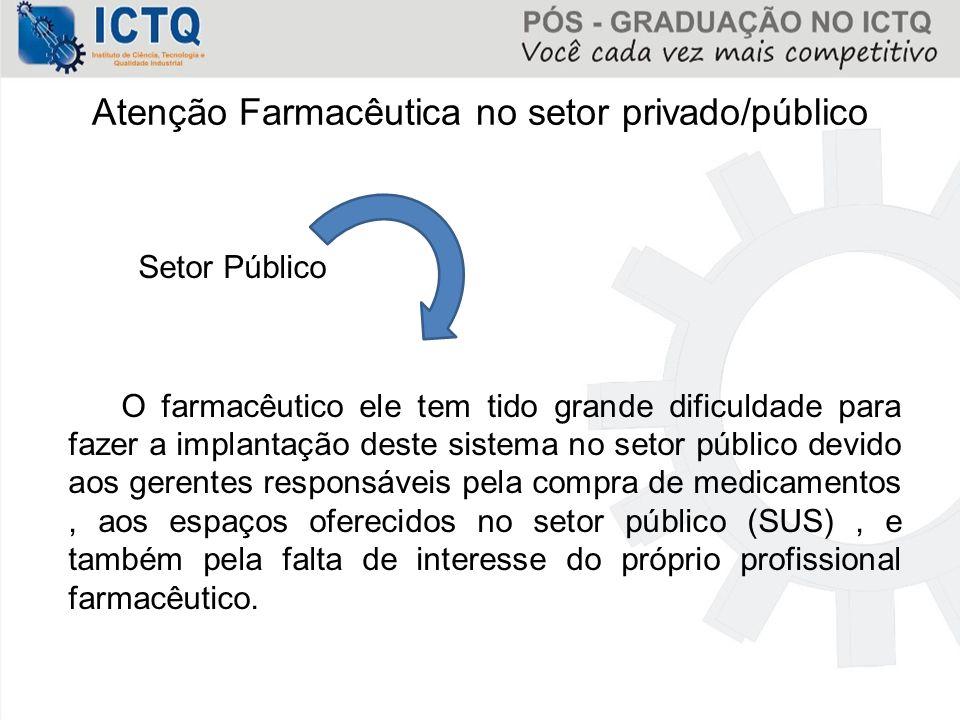 Atenção Farmacêutica no setor privado/público