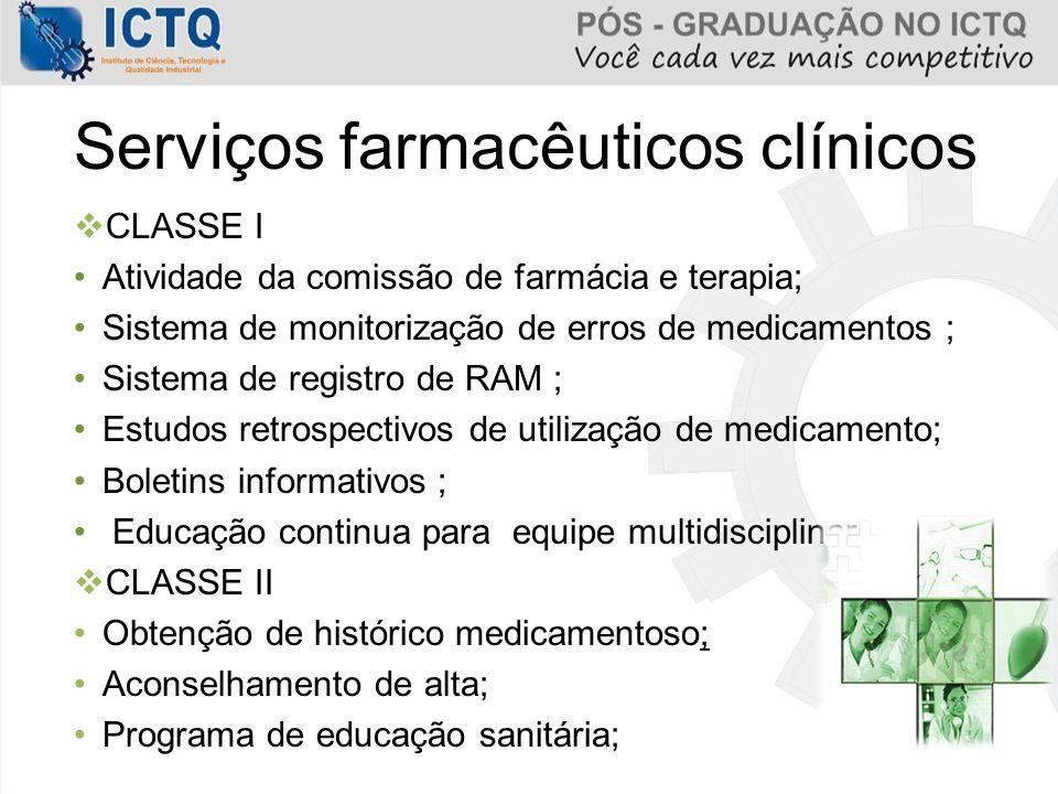 Serviços farmacêuticos clínicos