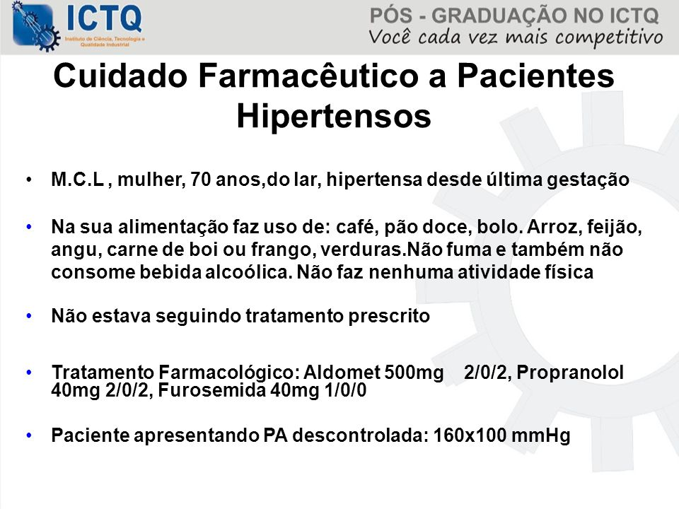 Cuidado Farmacêutico a Pacientes Hipertensos