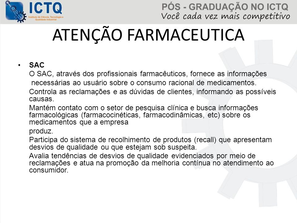 ATENÇÃO FARMACEUTICA SAC