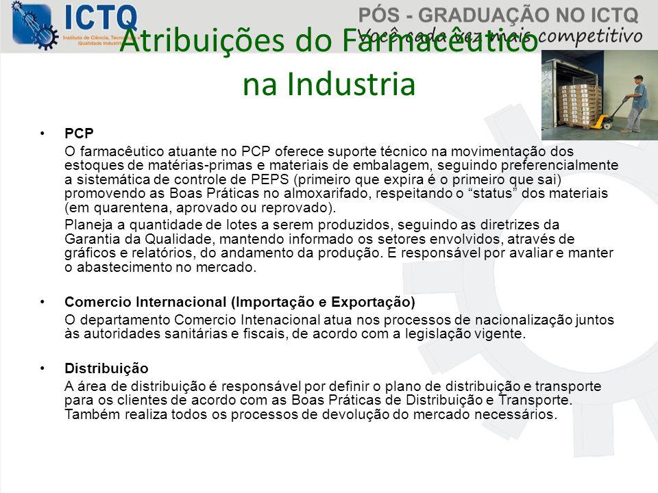 Atribuições do Farmacêutico na Industria
