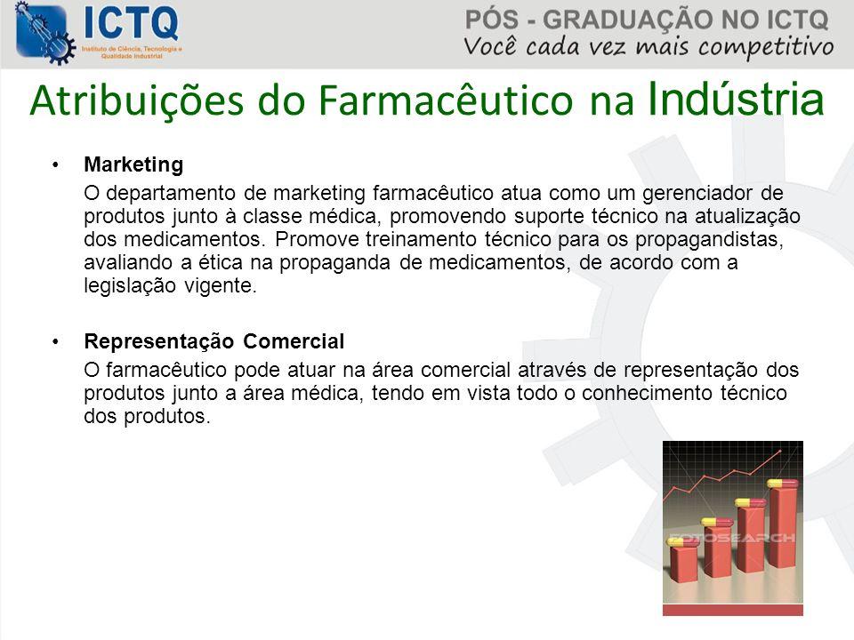 Atribuições do Farmacêutico na Indústria