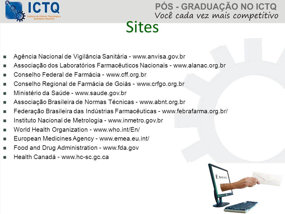 Sites Agência Nacional de Vigilância Sanitária - www.anvisa.gov.br