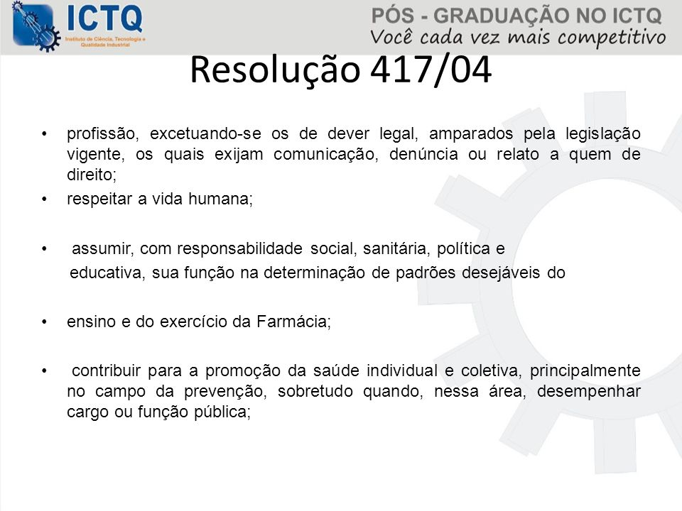 Resolução 417/04
