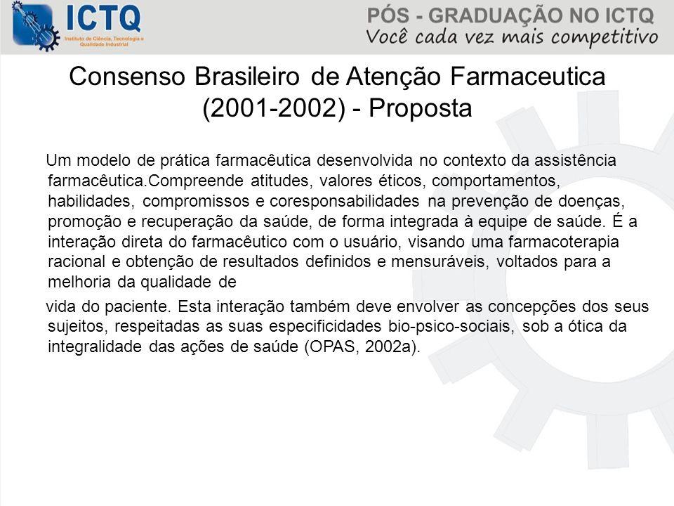 Consenso Brasileiro de Atenção Farmaceutica (2001-2002) - Proposta