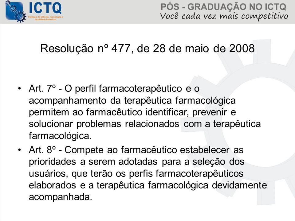 Resolução nº 477, de 28 de maio de 2008
