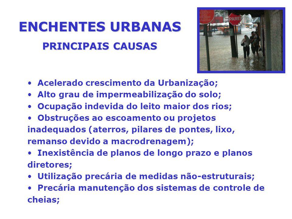 ENCHENTES URBANAS PRINCIPAIS CAUSAS