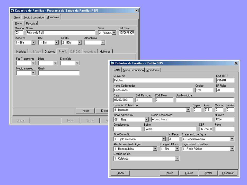 Aqui temos duas telas que exemplificam a versatilidade deste módulo.