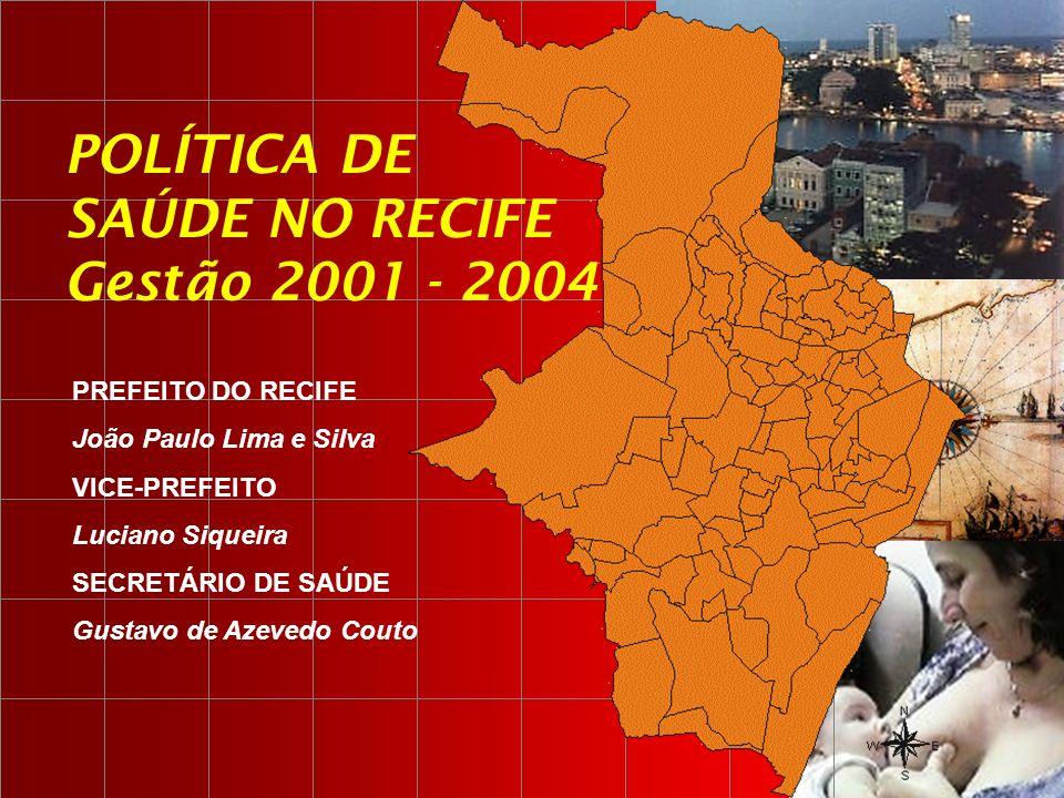 POLÍTICA DE SAÚDE NO RECIFE Gestão 2001 - 2004 PREFEITO DO RECIFE