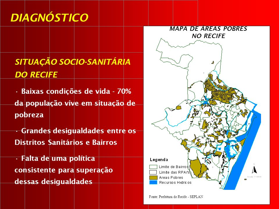 MAPA DE ÁREAS POBRES NO RECIFE