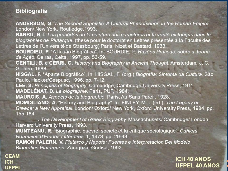 Bibliografia ICH 40 ANOS UFPEL 40 ANOS
