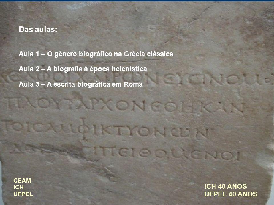 Das aulas: Aula 1 – O gênero biográfico na Grécia clássica
