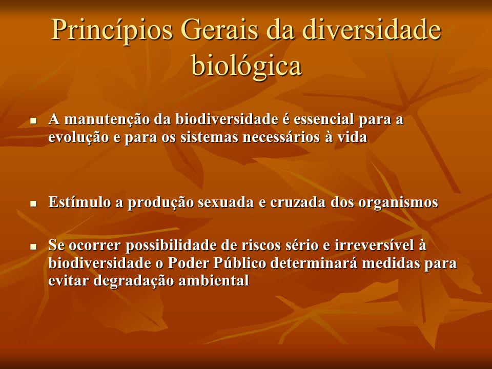 Princípios Gerais da diversidade biológica
