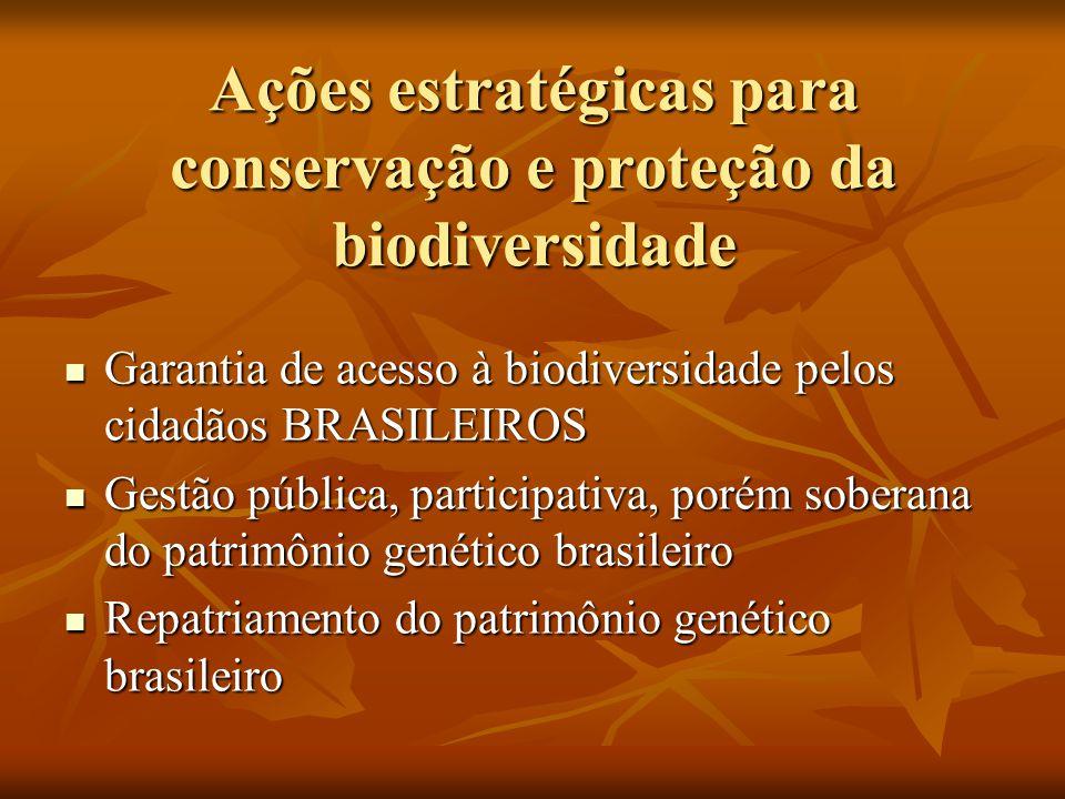 Ações estratégicas para conservação e proteção da biodiversidade
