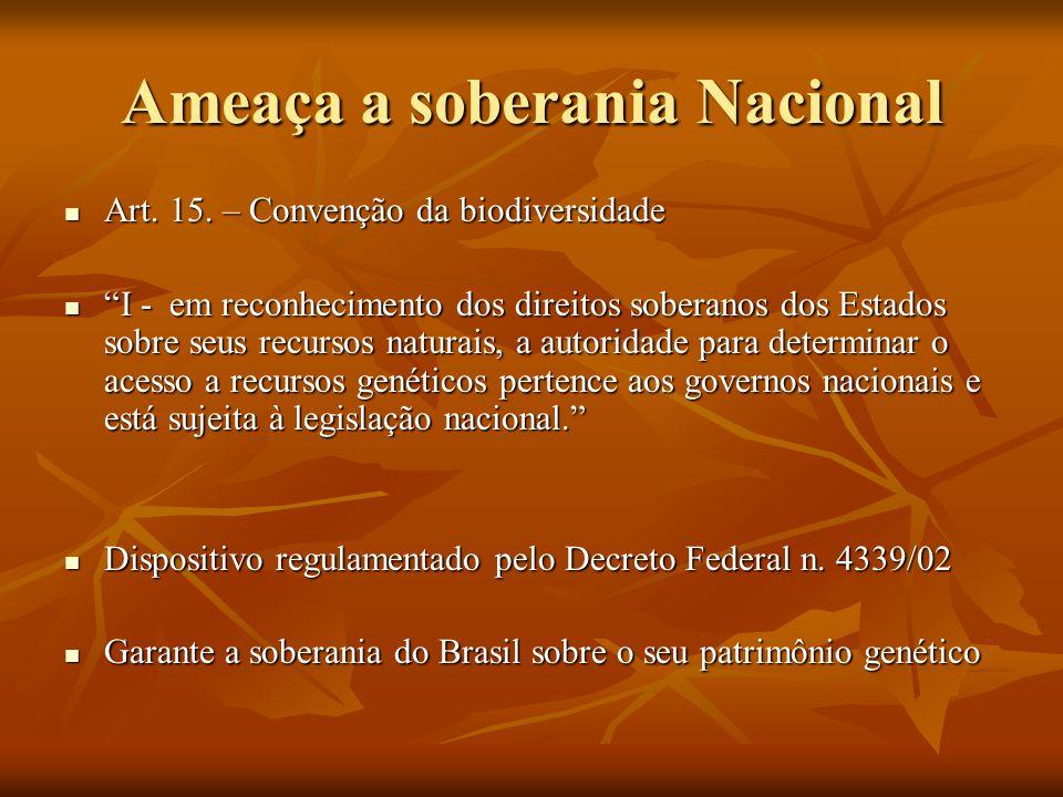 Ameaça a soberania Nacional