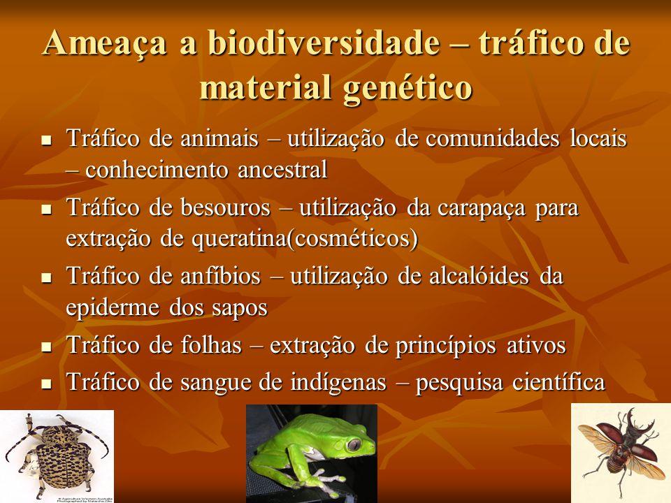 Ameaça a biodiversidade – tráfico de material genético