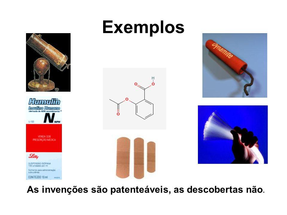 As invenções são patenteáveis, as descobertas não.