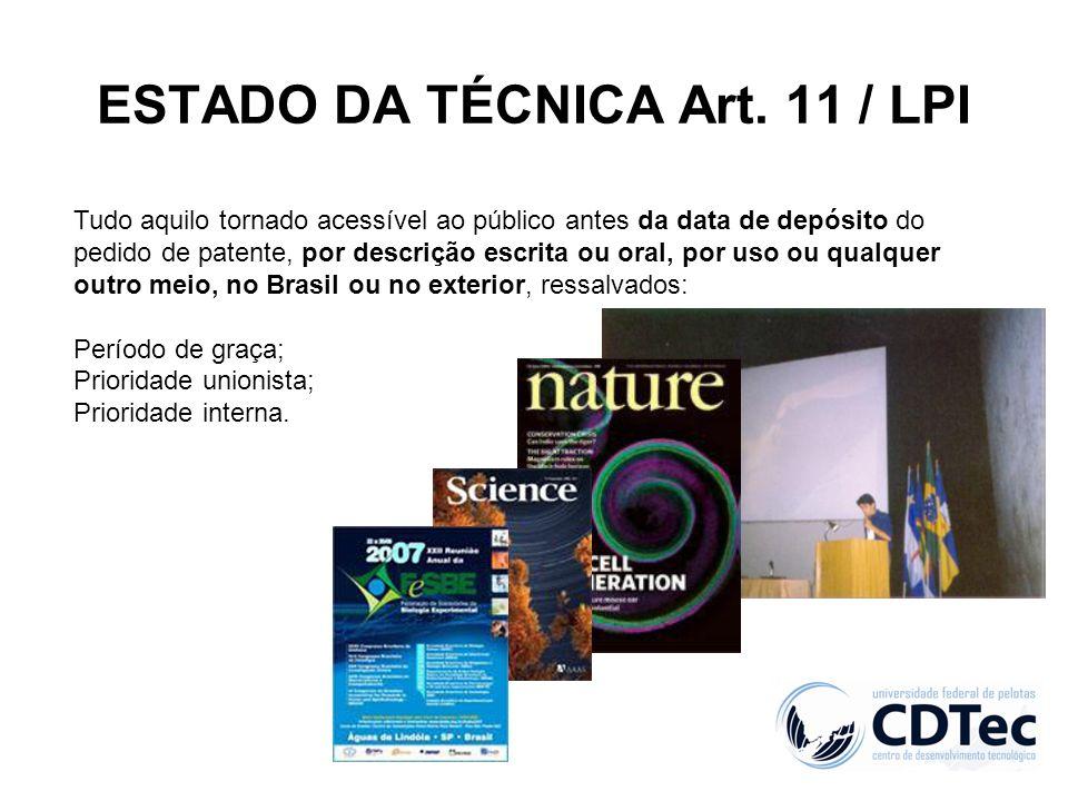 ESTADO DA TÉCNICA Art. 11 / LPI