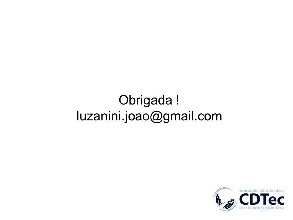 Obrigada ! luzanini.joao@gmail.com