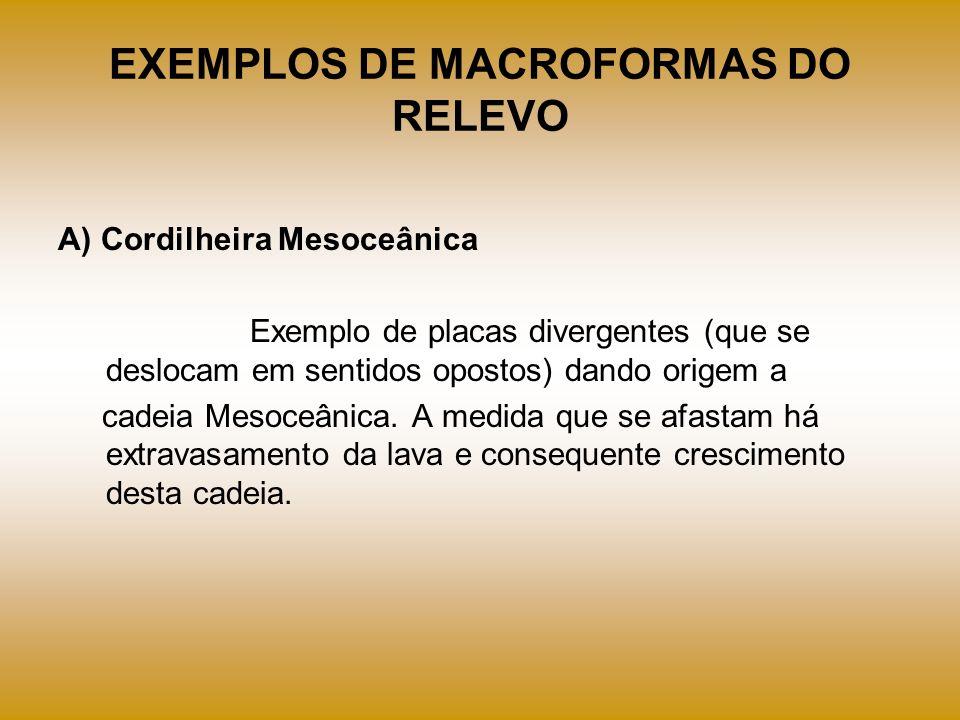 EXEMPLOS DE MACROFORMAS DO RELEVO