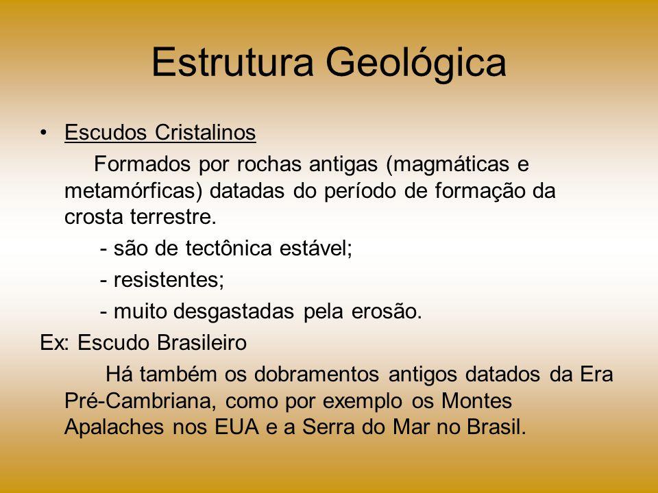 Estrutura Geológica Escudos Cristalinos