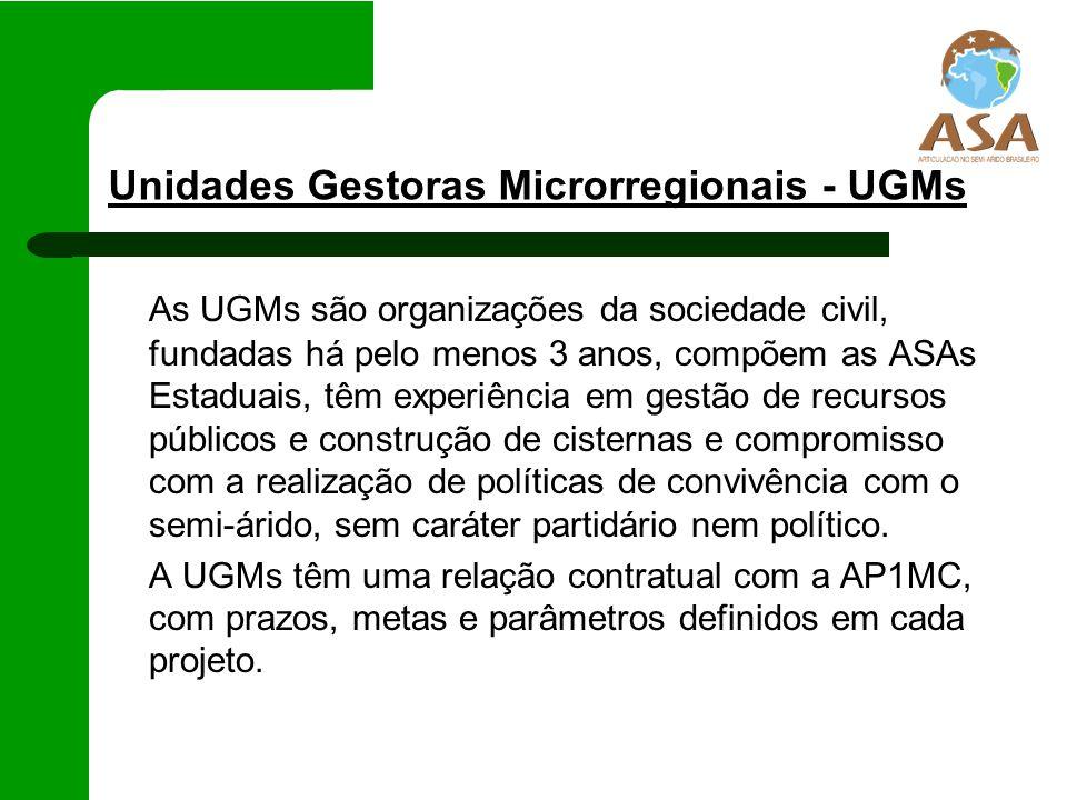 Unidades Gestoras Microrregionais - UGMs