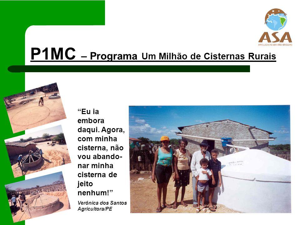 P1MC – Programa Um Milhão de Cisternas Rurais