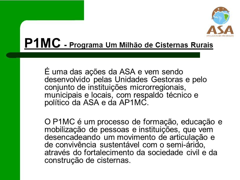 P1MC - Programa Um Milhão de Cisternas Rurais