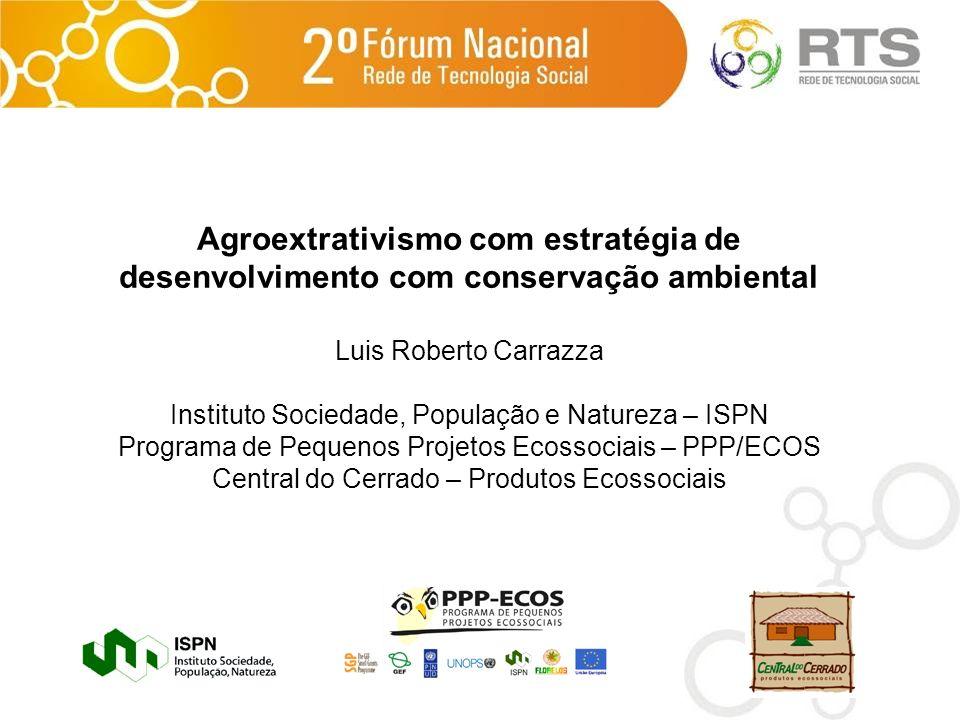 Agroextrativismo com estratégia de desenvolvimento com conservação ambiental
