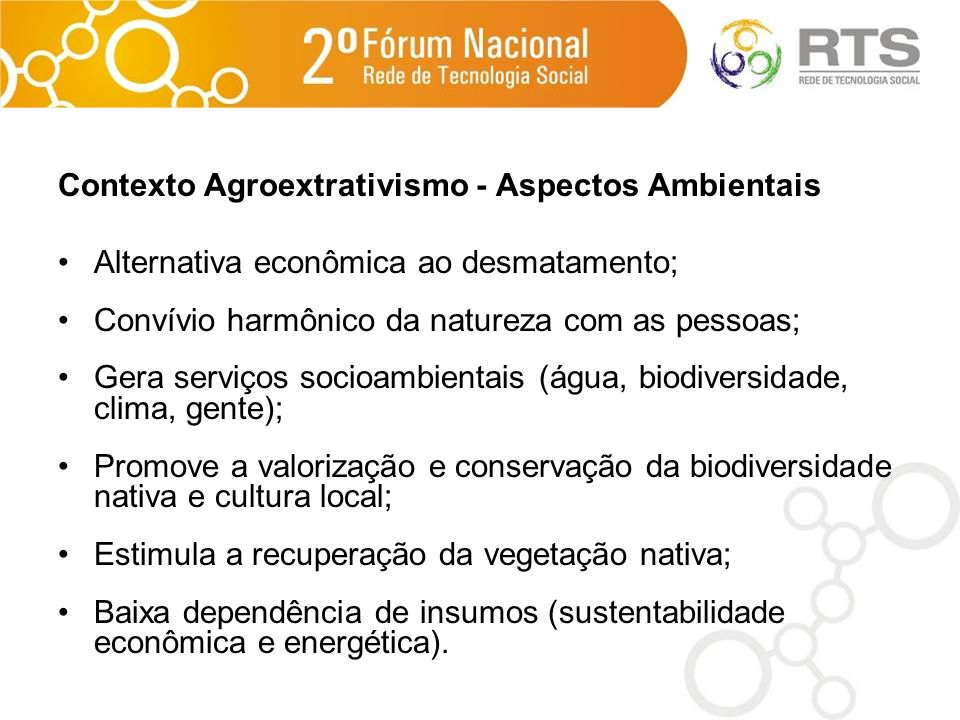 Contexto Agroextrativismo - Aspectos Ambientais