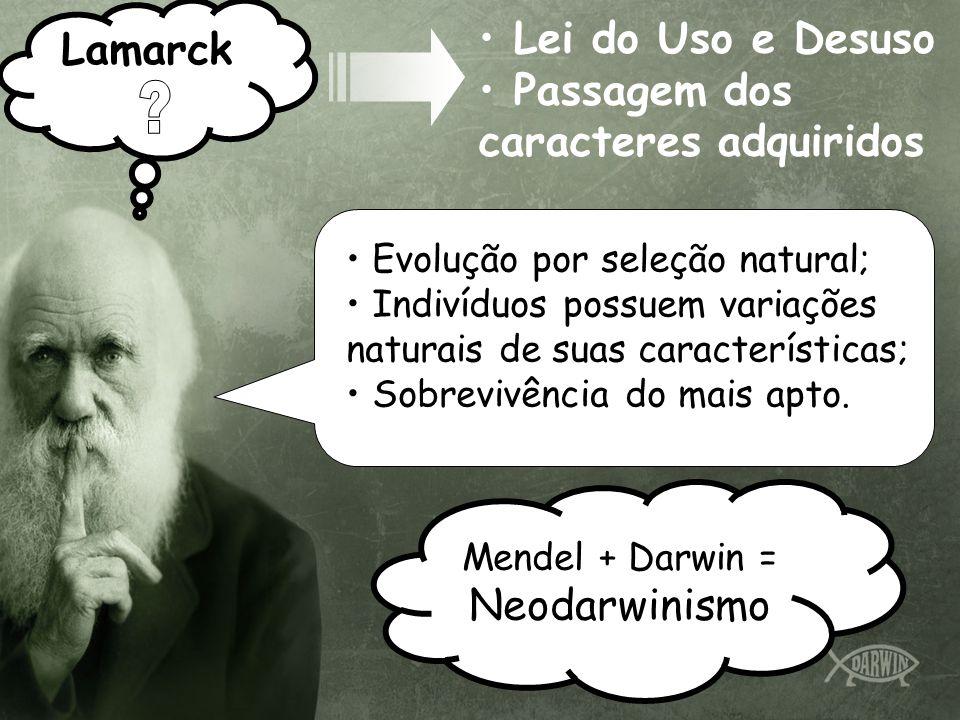 Lamarck Lei do Uso e Desuso Passagem dos caracteres adquiridos