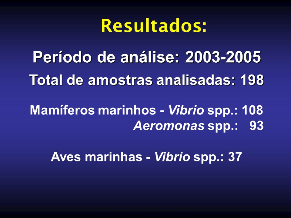 Resultados: Período de análise: 2003-2005
